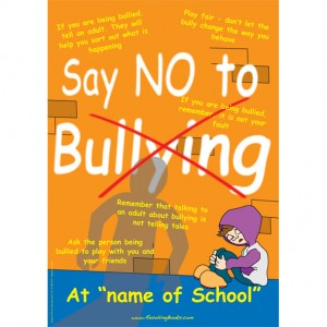 Personalised A3 anti Bullying Poster